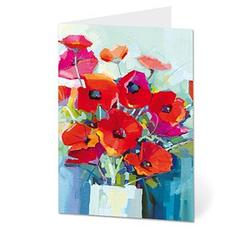 LUMA Grußkarte Mohnblumen DIN B6