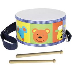 Clifton Spielzeug-Musikinstrument Kindertrommel mit Motiv, mit Kinderlieder CD