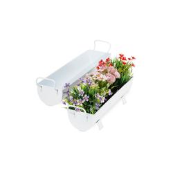 relaxdays Blumenkasten Blumenkasten Dachrinne 2er Set