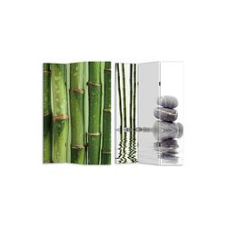 HTI-Line Paravent Paravent Bambus 2 (1 Stück), Nur für den Innenbereich geeignet