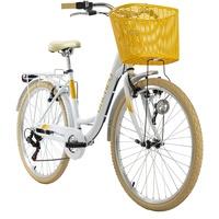 KS-CYCLING Cantaloupe 28 Zoll RH 48 cm Damen weiß inkl. Korb
