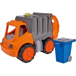 BIG Spielzeug-Müllwagen Power Worker Müllwagen orange Kinder Ab 2 Jahren Altersempfehlung Spielzeugfahrzeuge