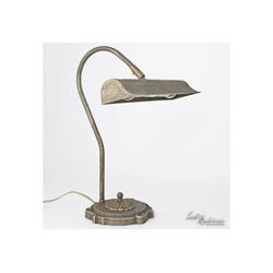 Licht-Erlebnisse Schreibtischlampe Bronzierte Tischlampe aus Messing E14 H:41cm Premium Schreibtisch Vintage