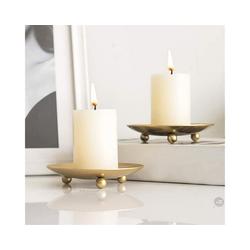 Gotui Kerzenhalter, 2 Stück Einfach Kerzenhalter Kerzenleuchter Kerzenständer Hochzeitsfeier Dekor