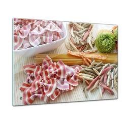 Bilderdepot24 Glasbild, Memoboard - Essen & Trinken - Italienische Nudeln 60 cm x 40 cm