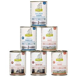 isegrim® Dosen-Menü-Mix, Anzahl: 12 x 400 g, 400 g, Hundefutter nass