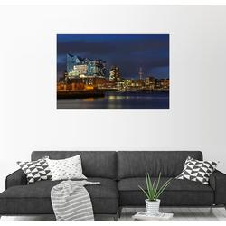 Posterlounge Wandbild, Hafencity mit Elbphilharmonie 90 cm x 60 cm