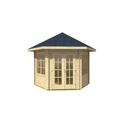 SKANHOLZ, Gartenhaus, sechseckig, BxT: 350 x 373 cm, inkl. Dacheindeckung