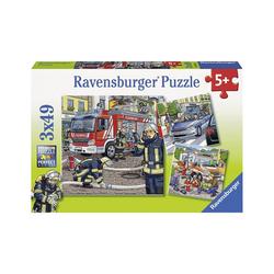 Ravensburger Puzzle 3er Set Puzzle, je 49 Teile, 21x21 cm, Helfer in, Puzzleteile