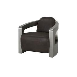 Sessel im Industriallook  Tyson ¦ braun ¦ Maße (cm): B: 76 H: 70 T: 85