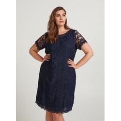 ZAY Abendkleid Damen Große Größen Spitzenkleid Elegant Spitze Abendkleid Kleid XL (54/56)
