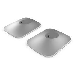 KEF KEF P1 Tisch Standfuß - Weiss, Paar - Silber