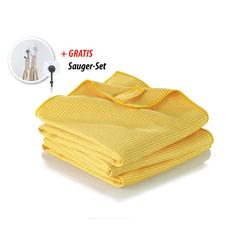 JEMAKO® Trockentuch groß (45 x 80 cm) TrioPack - gelb
