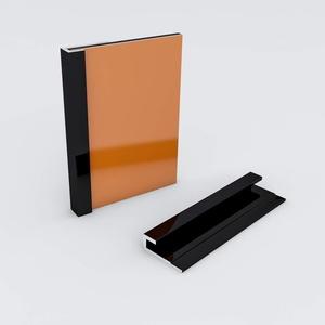 Duschrückwand-Profilsystem Abschlussprofil Aluprofil Aluminiumprofil für 3mm Duschrückwand Küchenspiegel 300cm schwarz
