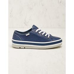 Wolky Damen Leder-Sneaker Minoa jeansblau