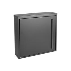 MOCAVI Briefkasten MOCAVI Box 101 Design-Briefkasten grau eisenglimmer (DB 703) 10 Liter Wandbriefkasten