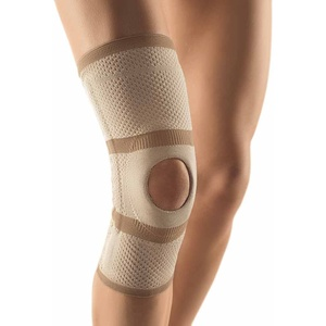 Bort Kniebandage Patella-Aussparung Knie Gelenk Bandage Stabiliserung Entlastung, hautfarben, M Plus