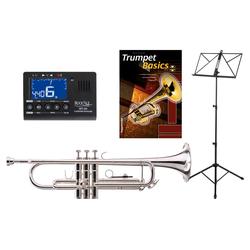 Classic Cantabile TR-40S Bb-Trompete SET mit Stimmgerät/Metronom, Notenständer und Trompetenschule
