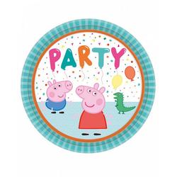 Amscan Einweggeschirr-Set Peppa Pig Pappteller als Partygeschirr 23 cm - 8 S, Pappe