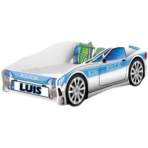 Kinderbett Autobett Auto Junior mit Lattenrost und Matratze 140x70 160x80 180x80 ACMA (140x70, 9 + Name)