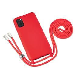 Handyhülle mit Band für Galaxy A41 - Rot