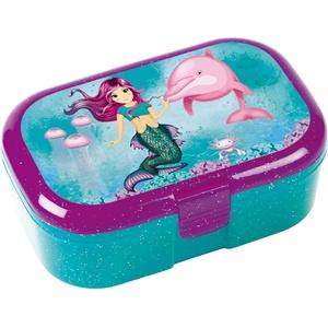 Glitzer-Lunchbox * MEERJUNGFRAU Coralie * für Kinder von Lutz Mauder | 10663 | Perfekt für Nixen-Fans | Vesperdose Brotdose Brotzeit Schule Grundschule Einschulung