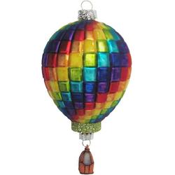 Krebs Glas Lauscha Christbaumschmuck Heißluftballon (1-tlg), mundgeblasen