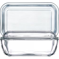 Luminarc Butterdose Helper, Glas, Butterdose 10.5x17cm Glas transparent 1 Stück 10.5 cm x 17 cm x 7.4 cm