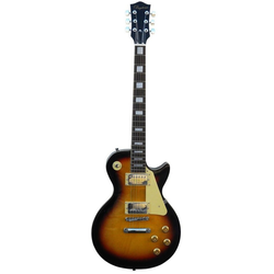 Daytona E-Gitarre LP02 - sunburst 4/4, mit massivem Korpus