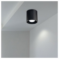 etc-shop LED Einbaustrahler, Aufbauleuchte Deckenstrahler GU10 Aufbaustrahler Aufputz Lampe Decke Aufbauspot schwarz, Aluminium, DxH 10x10 cm, Küche