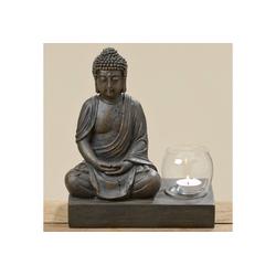 BOLTZE Windlicht Buddha braun