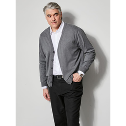 Cardigan Men Plus Grau