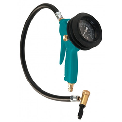 Aircraft PRO-E - Profi-Reifenfüllmessgerät mit Kipphebelstecker für Reifengas (Stickstoff) geeignet