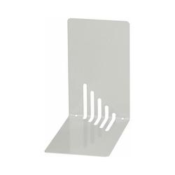 WEDO Buchstütze Buchstützen Metall 14 x 8,5 x 14 cm weiß, 2 Stück grau