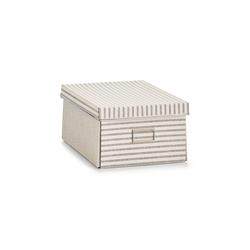 HTI-Living Aufbewahrungsbox Aufbewahrungsbox mit Deckel Stripes, Aufbewahrungsbox 25 cm x 15 cm x 36 cm