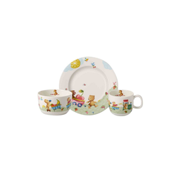 Villeroy & Boch Kindergeschirr-Set HUNGRY AS A BEAR Kindergeschirrset 3-tlg, Porzellan