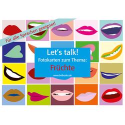 Let's Talk! Fotokarten Früchte