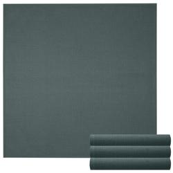 Lashuma Handtuch Set Küchentücher (Set, 4-tlg), Geschirrtuch 4er Set, Küchentücher Waffelpique 50 x 50 cm grau