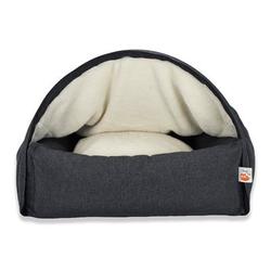 Sleepy Fox® Kuschelhöhlen Hundebett, S, 55 x B 65 x H 40 cm, grau