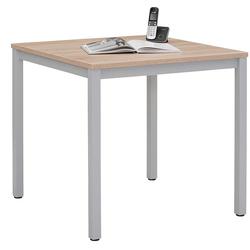 Tisch in Grau und Sonoma Eiche 75 cm hoch