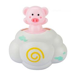 kueatily Badewannenspielzeug Wasserspielzeug für Kinder, Regenspielzeug, Spielzeug für die Babywanne Badeplüschtier rot 8.5 cm x 13 cm x 13.5 cm