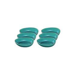 LEONARDO Schale NOLI Keramikschüssel 22 cm grün 6-tlg., Keramik, (6-tlg)