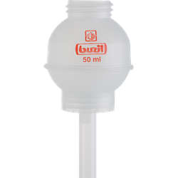 Buzil Dosierkugel 50 ml, transparent für 1 l Flasche H629