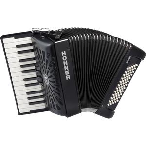 Hohner Bravo II 60 silent key schwarz Akkordeon