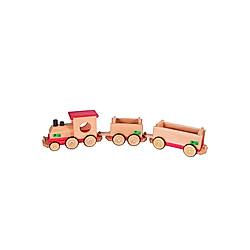 Beck Eisenbahn aus Holz  rot/natur