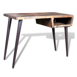 Vaxiuja Schreibtisch Schreibtisch Tisch aus recyceltem Holz mit Eisenbeinen Schreibtisch Computertisch