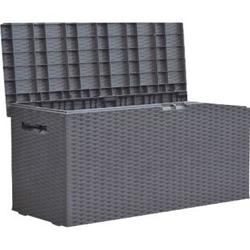 Auflagenbox Rattan Optik 120cm Gartenbox Gartentruhe Auflagen Garten Box Truhe
