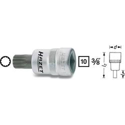 Hazet 8808-5 Innen-Vielzahn (XZN) Steckschlüssel-Bit-Einsatz 5mm 3/8  (10 mm)