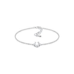 Elli Armband Hufeisen Glücksbringer Zirkonia Steine 925 Silber
