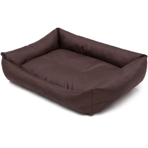 Hobbydog XXL LECCBR7 Dog Bed Eco XXL 105X75 cmdark Brown, XXL, Brown, 2.75 kg